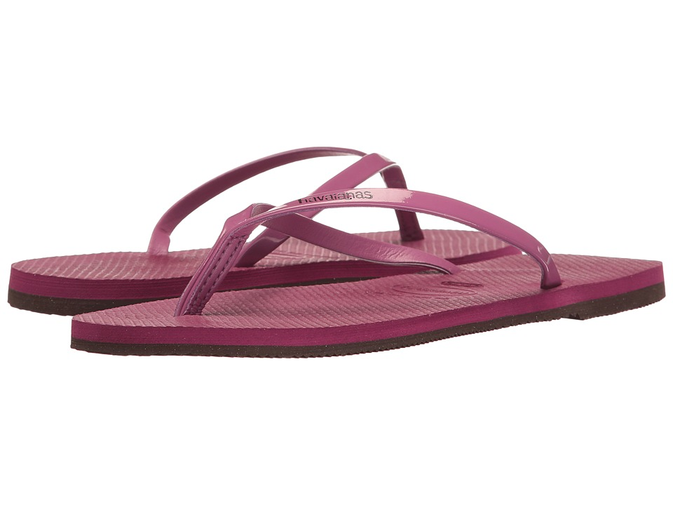 Havaianas - You Metallic Flip Flops (Acai) Women's Sandals
