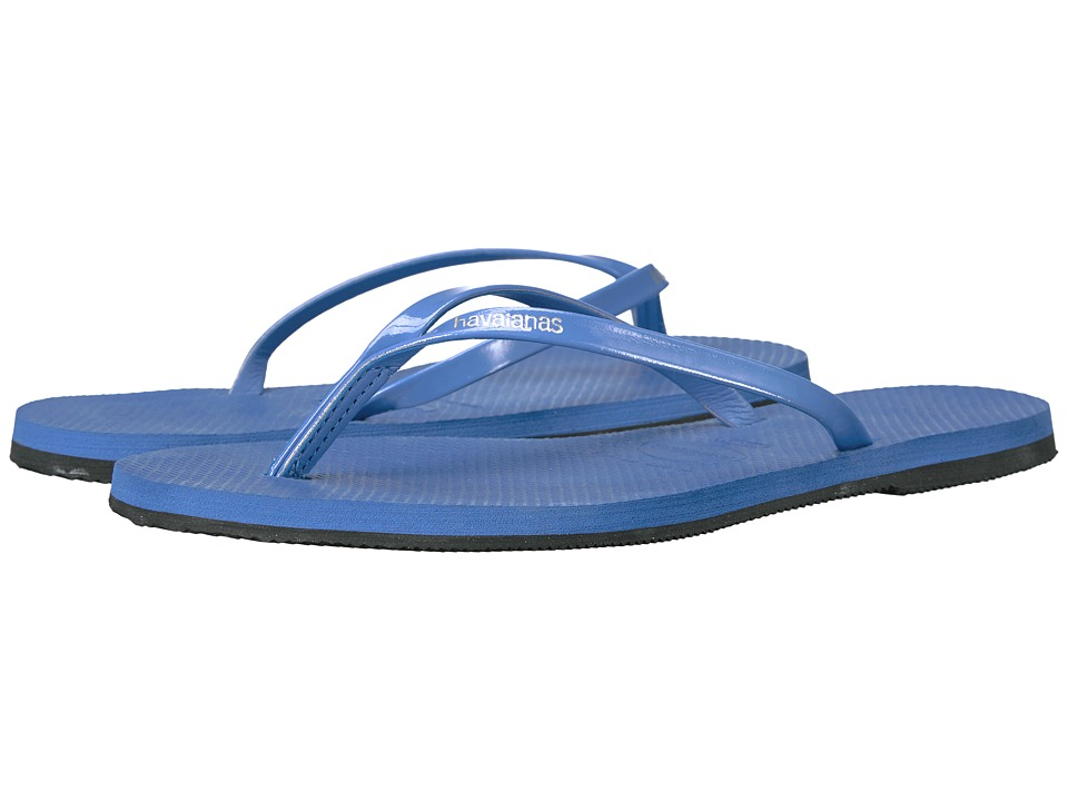 Havaianas You Metallic Flip Flops (Light Blue) Women