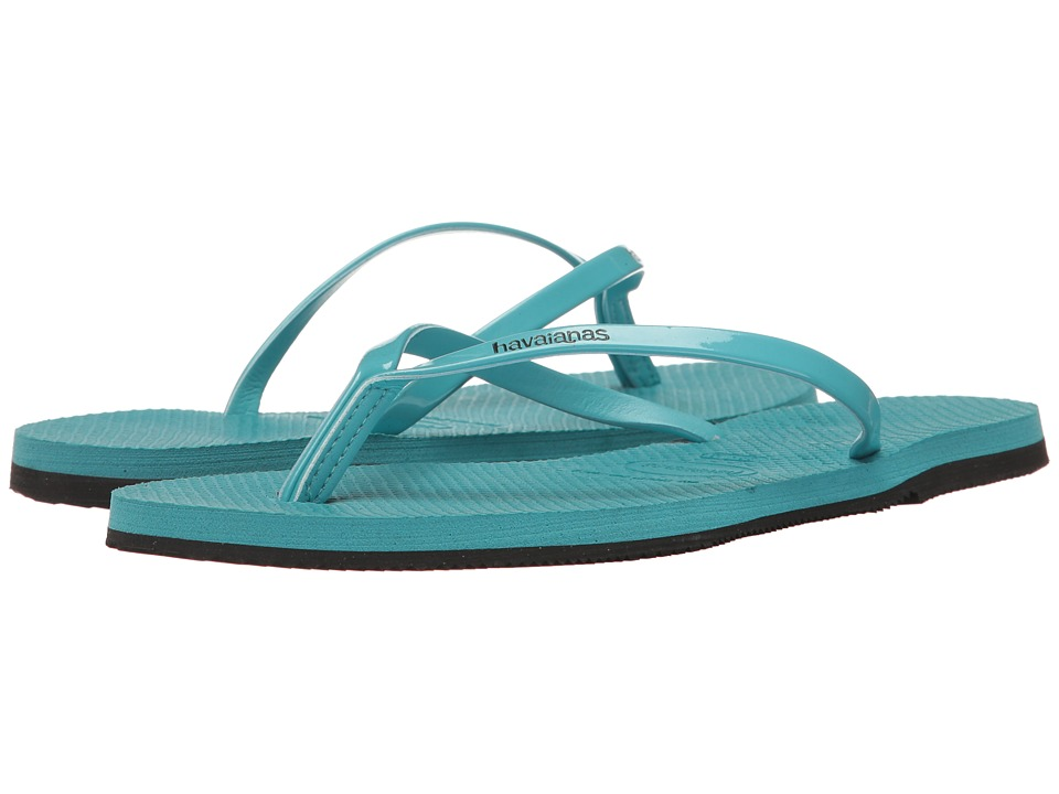 Havaianas - You Metallic Flip Flops (Traditional Blue) Women's Sandals