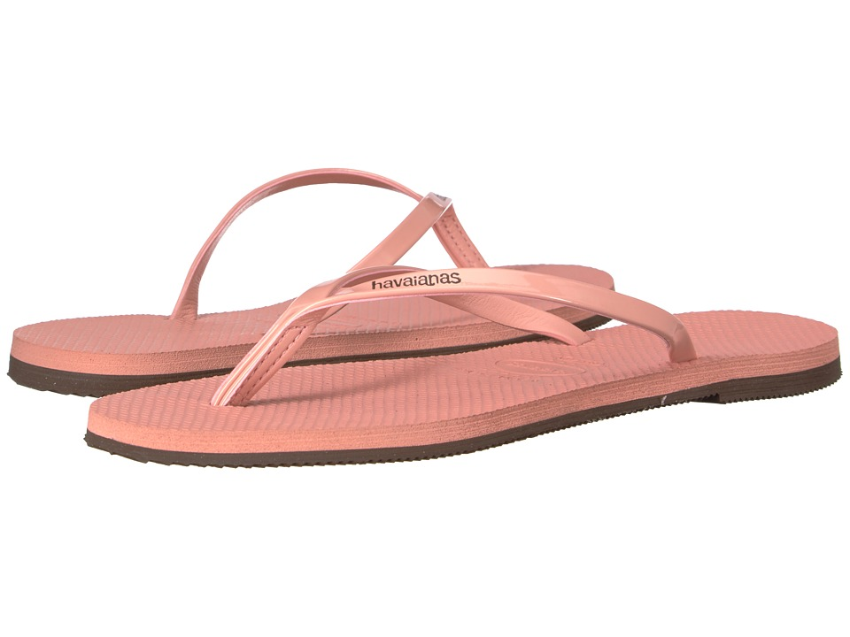 Havaianas You Metallic Flip Flops (Light Rose) Women