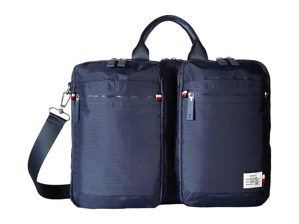 Tommy Hilfiger - Thomas Convertible Computer Bag Backpack (Tommy Navy) Backpack Bags