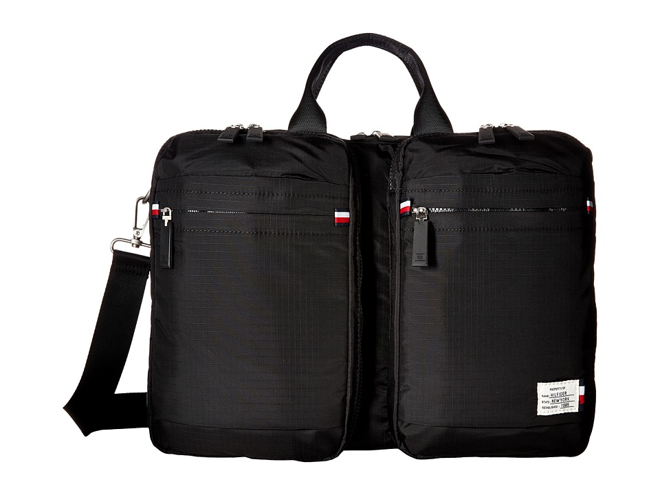 Tommy Hilfiger - Thomas Convertible Computer Bag Backpack (Black) Backpack Bags