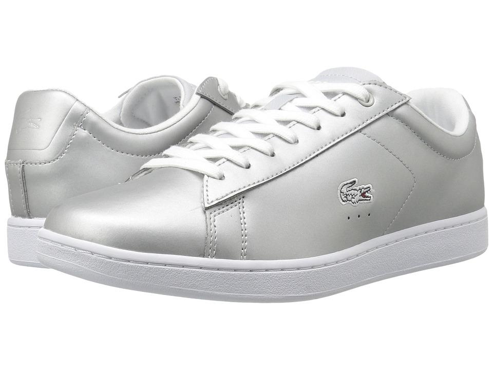 Lacoste - Carnaby Evo 117 3 (Light Grey) Women's Shoes