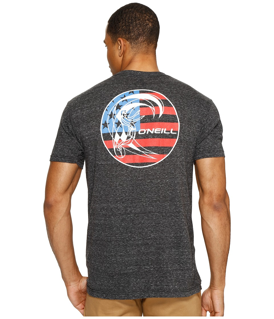 O'Neill - Old Glory Tee (Heather Black) Men's T Shirt