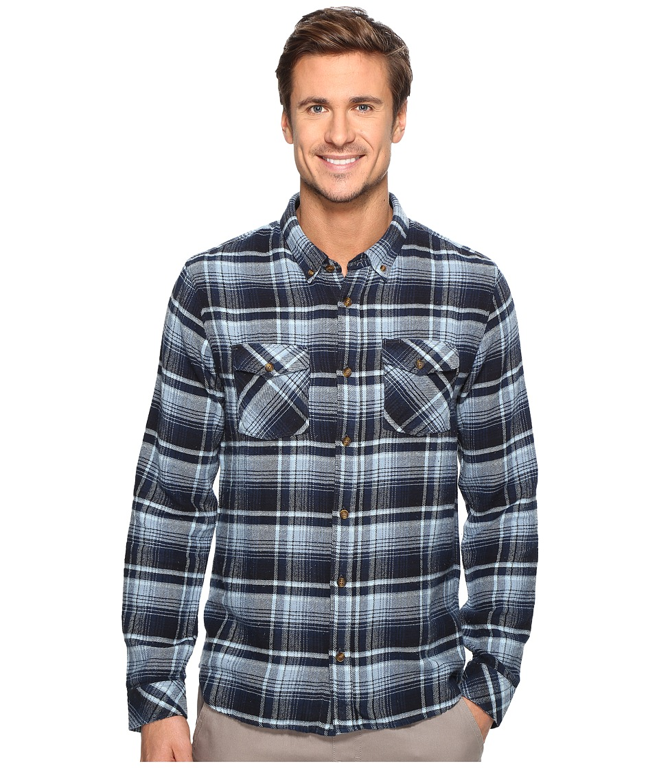 O'Neill - Butler Flannel Woven (Navy) Men's Clothing