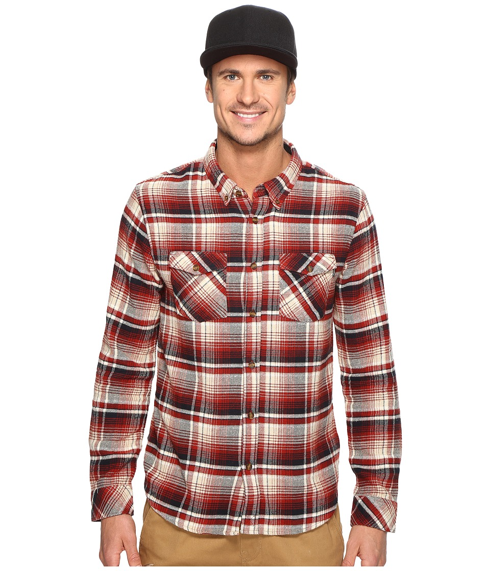 O'Neill - Butler Flannel Woven (Red) Men's Clothing