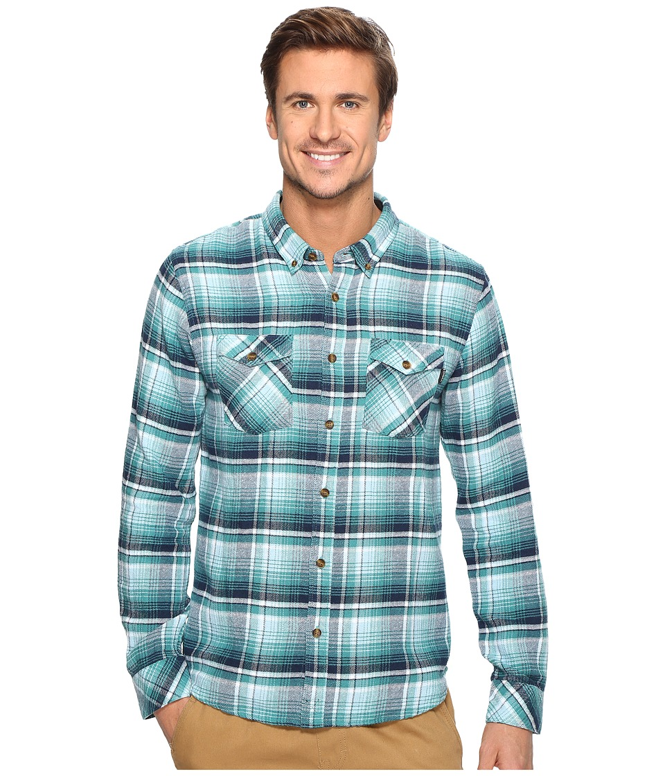 O'Neill - Butler Flannel Woven (Turquoise) Men's Clothing