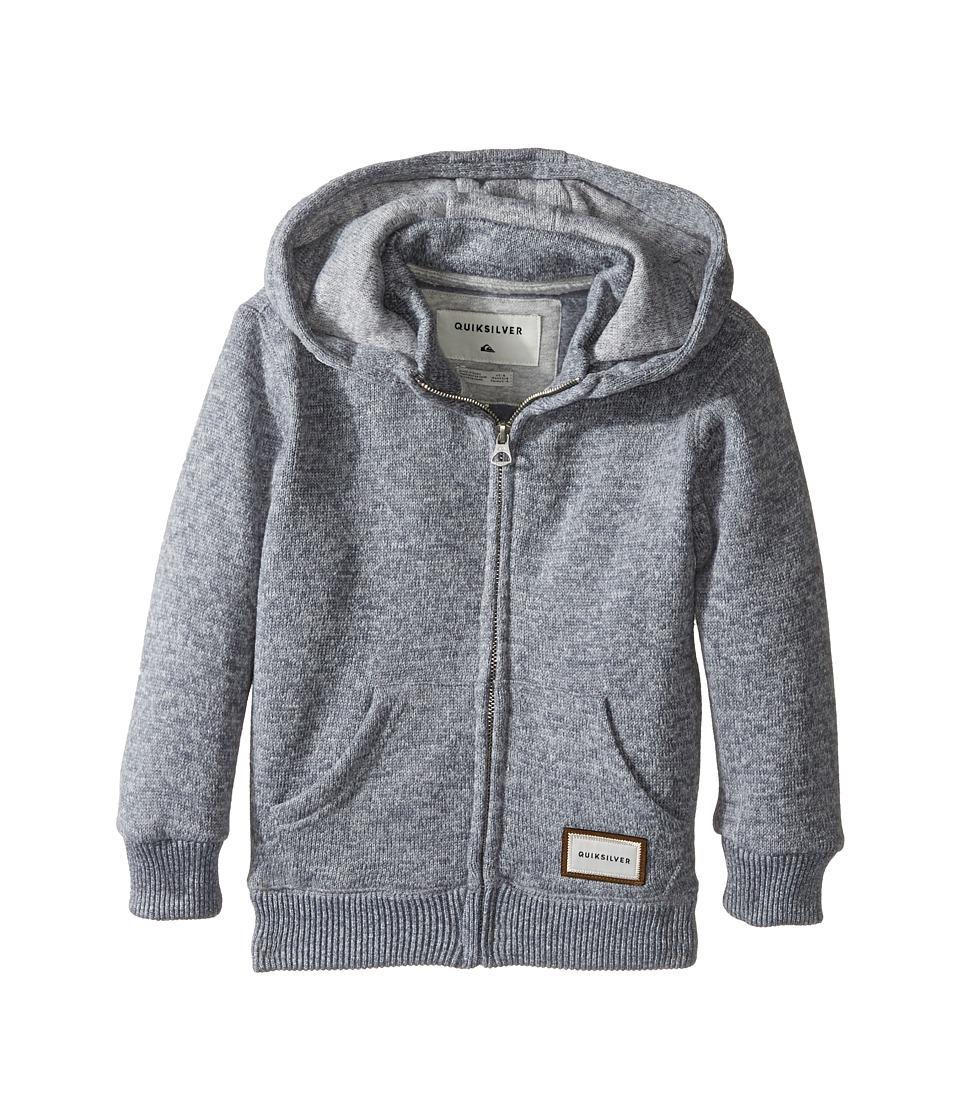 Quiksilver Kids - Keller Zip Fleece Top (Toddler/Little Kids) (Light Grey Heather) Boy's Clothing