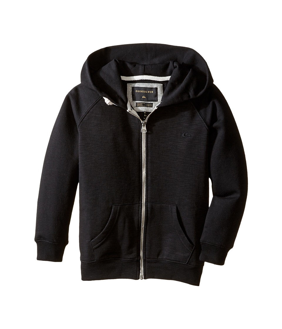Quiksilver Kids - Everyday Zip Fleece Top (Toddler/Little Kids) (Black) Boy's Clothing