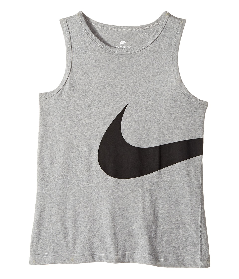 Nike Kids - Big Swoosh Tank (Little Kids/Big Kids) (Black/White) Boy's Clothing
