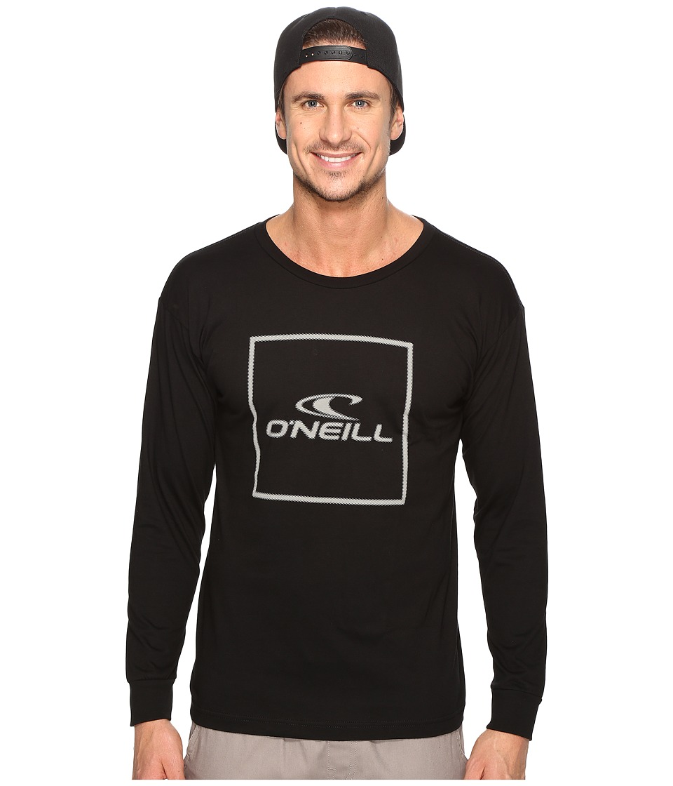 O'Neill - Boxed Long Sleeve Tee (Black) Men's T Shirt