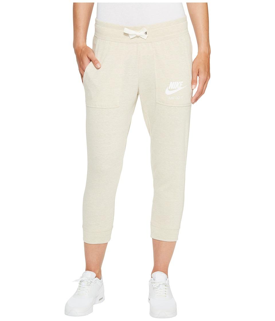 Nike Sportswear Gym Vintage Capri (Oatmeal/Sail) Women