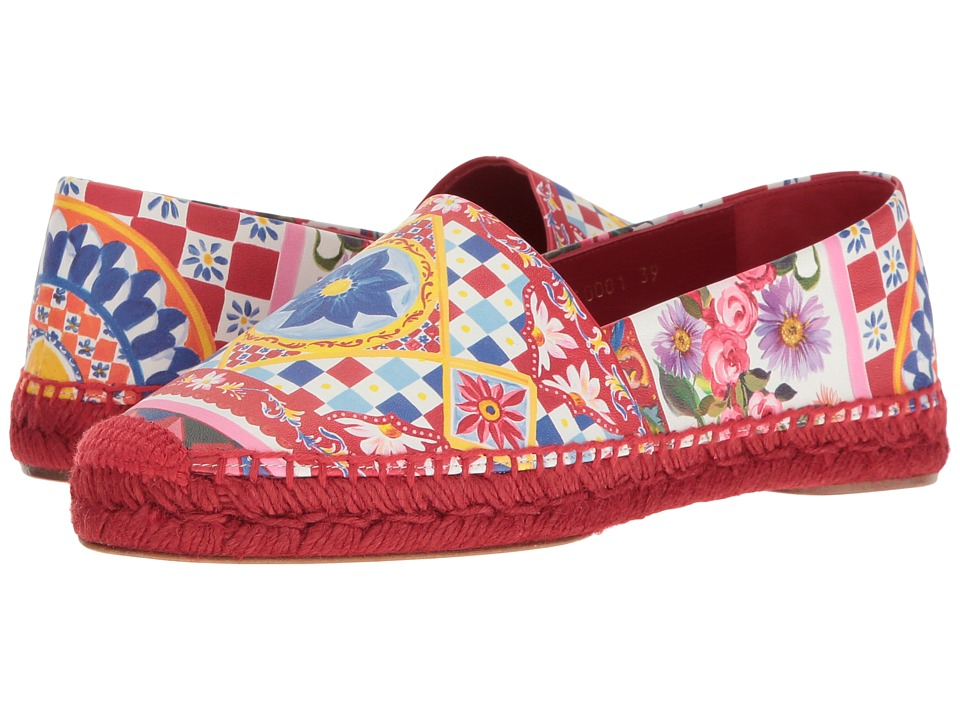 Dolce & Gabbana - Carretto Nappa Espadrille (Multi) Women's Shoes