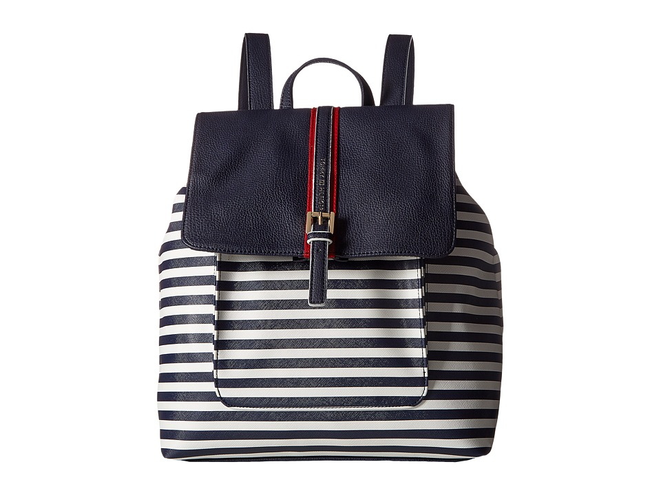 Tommy Hilfiger - Claire II Backpack (Navy/Cream) Backpack Bags