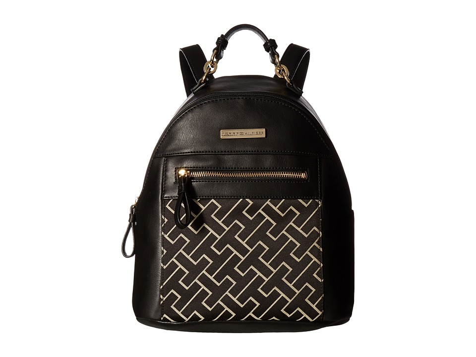Tommy Hilfiger - Claudia Dome Backpack (Black Alpaca) Backpack Bags