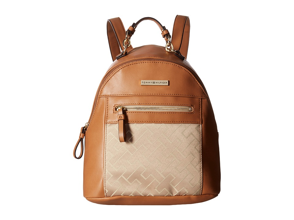 Tommy Hilfiger - Claudia Dome Backpack (Khaki Tonal) Backpack Bags
