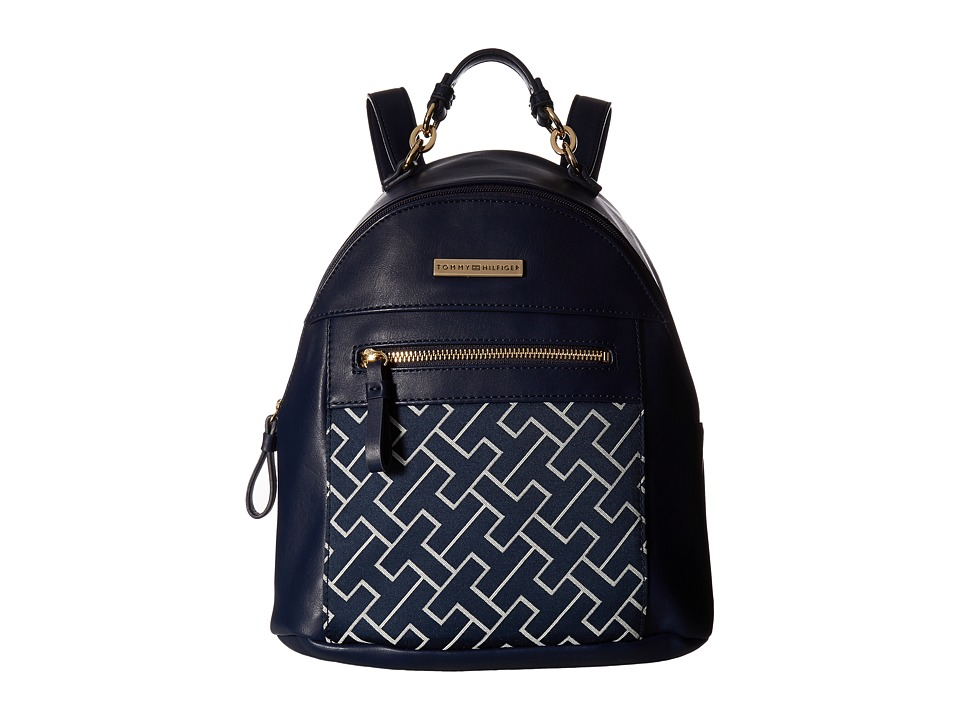 Tommy Hilfiger - Claudia Dome Backpack (Navy/White) Backpack Bags