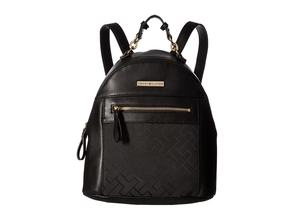 Tommy Hilfiger - Claudia Dome Backpack (Black Tonal) Backpack Bags