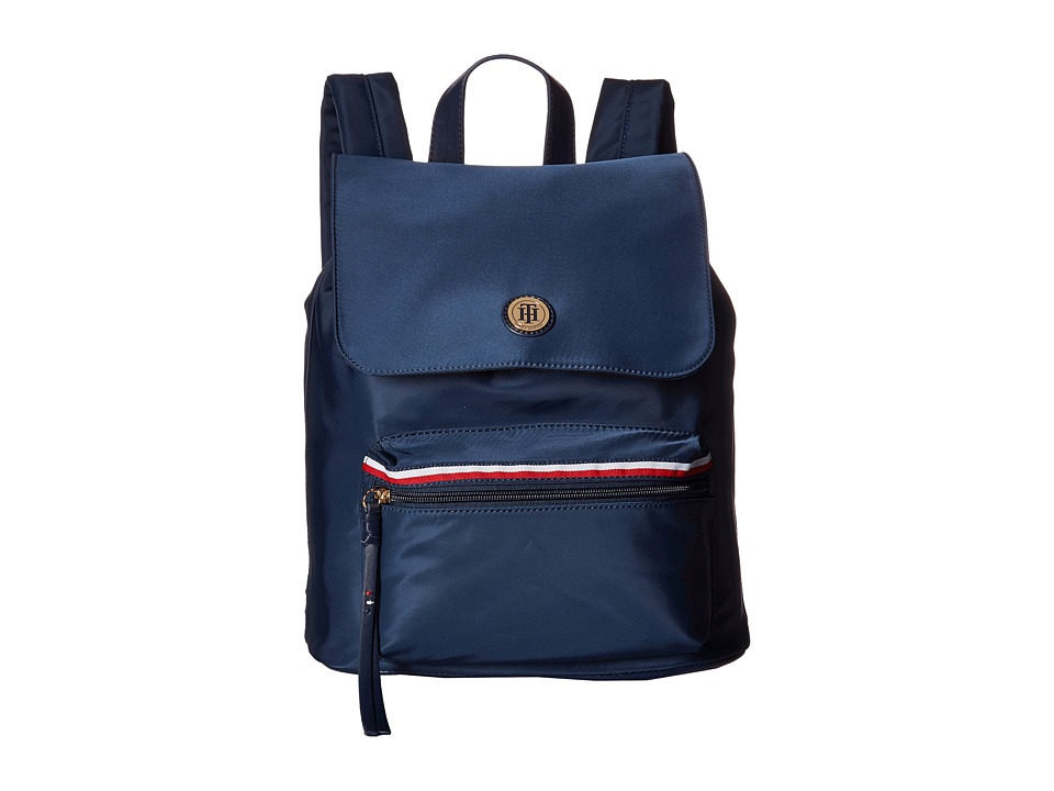 Tommy Hilfiger - Corinne II Flap Backpack (Tommy Navy) Backpack Bags