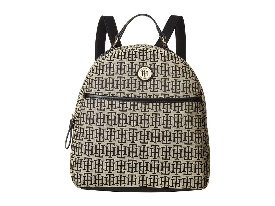 Tommy Hilfiger - Alena Dome Backpack Mono Jacquard (Black Alpaca) Backpack Bags