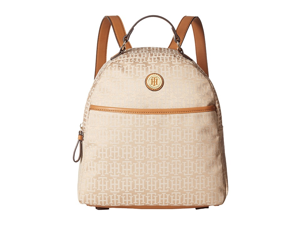 Tommy Hilfiger Alena Dome Backpack Mono Jacquard (Khaki Tonal) Backpack Bags