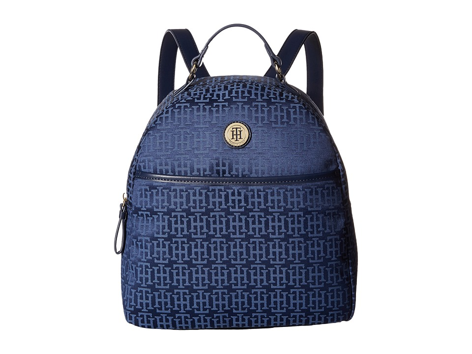Tommy Hilfiger - Alena Dome Backpack Mono Jacquard (Navy/Lapis) Backpack Bags