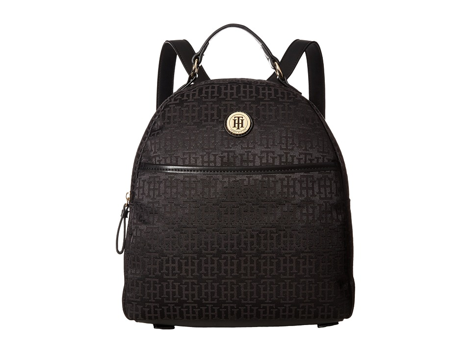 Tommy Hilfiger - Alena Dome Backpack Mono Jacquard (Black Tonal) Backpack Bags