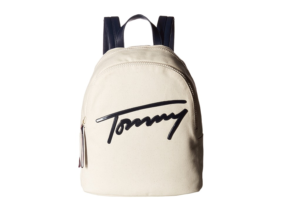 Tommy Hilfiger - Tommy Script Backpack Canvas (Natural) Backpack Bags