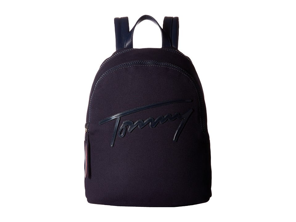 Tommy Hilfiger - Tommy Script Backpack Canvas (Tommy Navy) Backpack Bags
