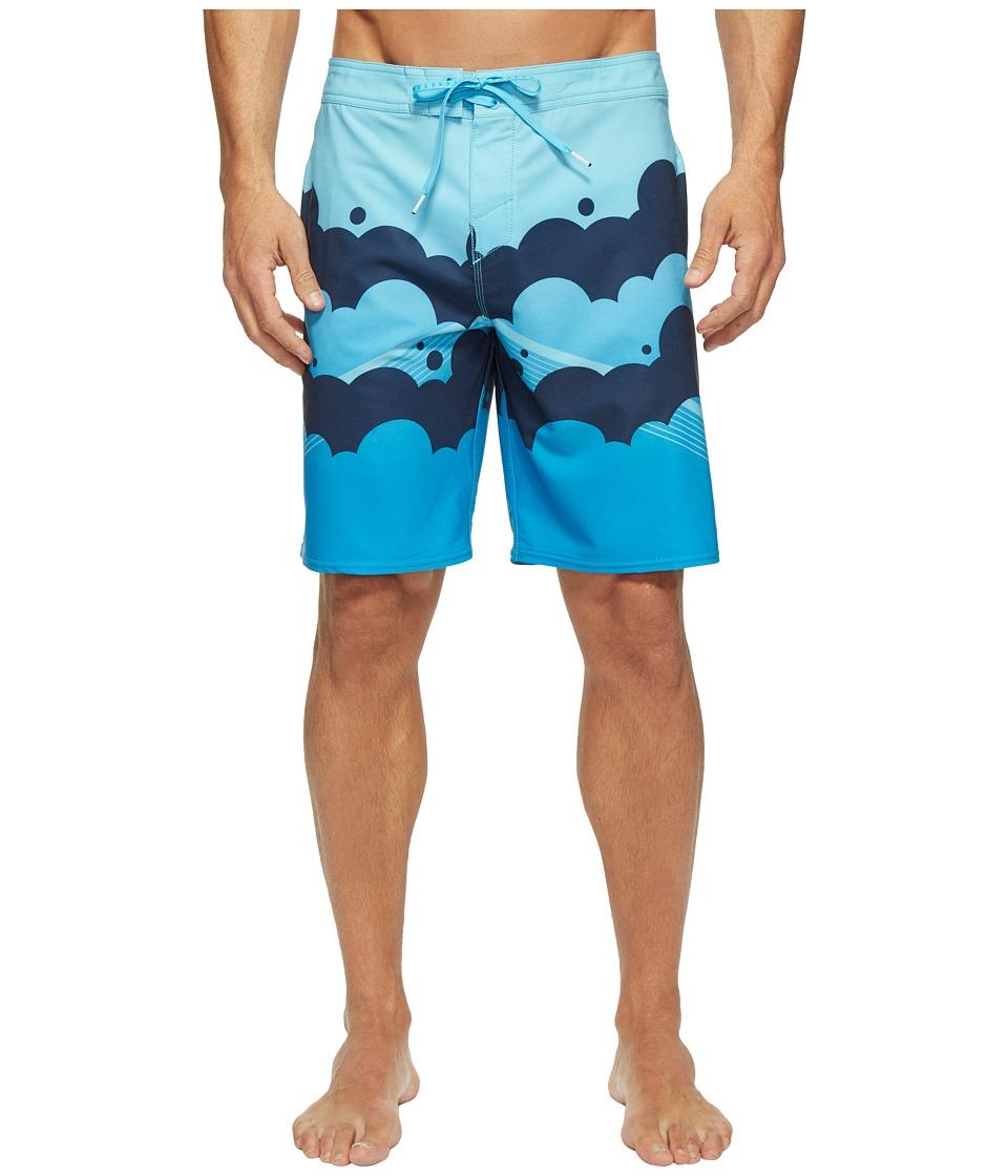 O'Neill - Hyperfreak Brooklyn Clouds Superfreak Series Boardshorts (Blue) Men's Swimwear