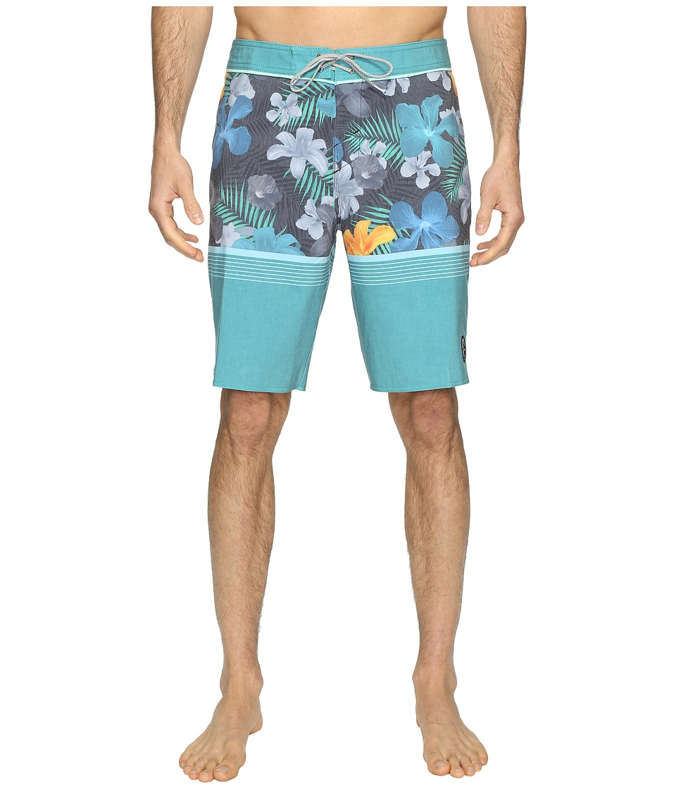 O'Neill - Hyperfreak Blissful Thinking Superfreak Series Boardshorts (Jade) Men's Swimwear