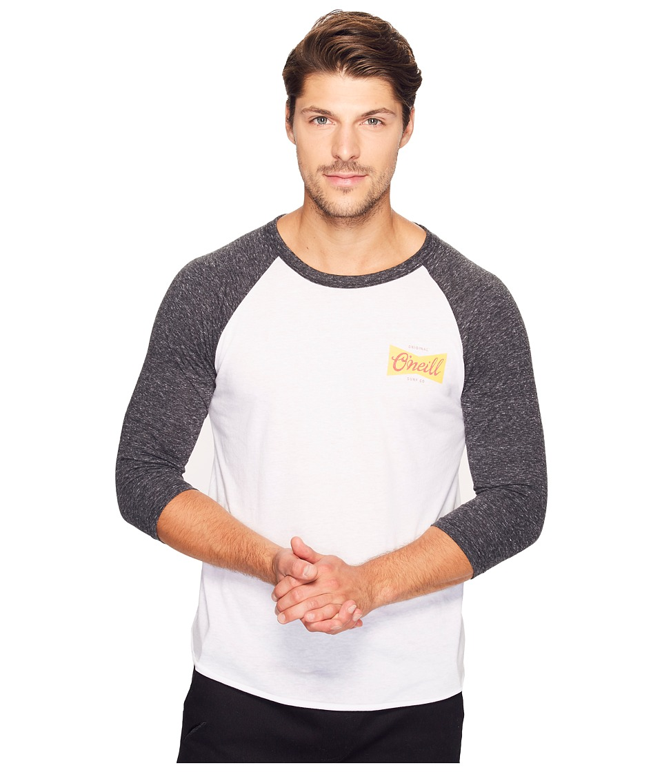 O'Neill - Brewer Raglan Tee (White/Black) Men's T Shirt