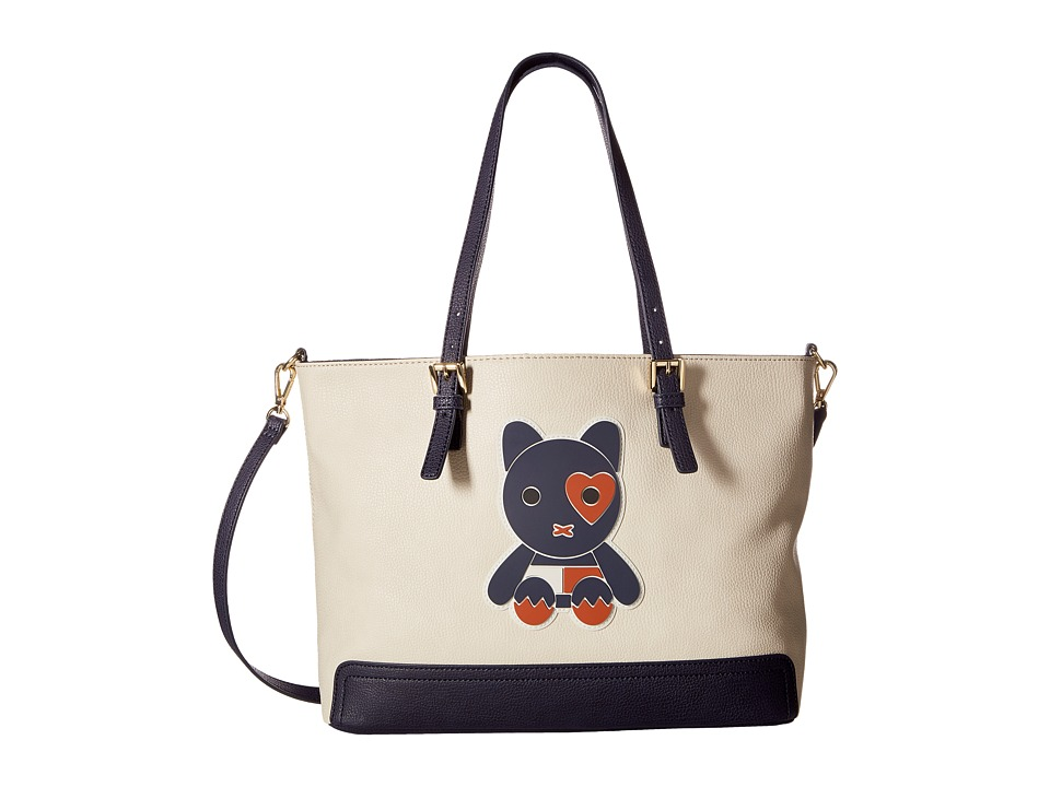 Tommy Hilfiger - Honey Convertible Tote Mascot Print (Oatmeal) Tote Handbags