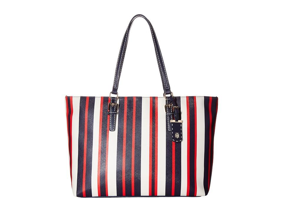 Tommy Hilfiger - Julia Tote (Navy/Multi) Tote Handbags