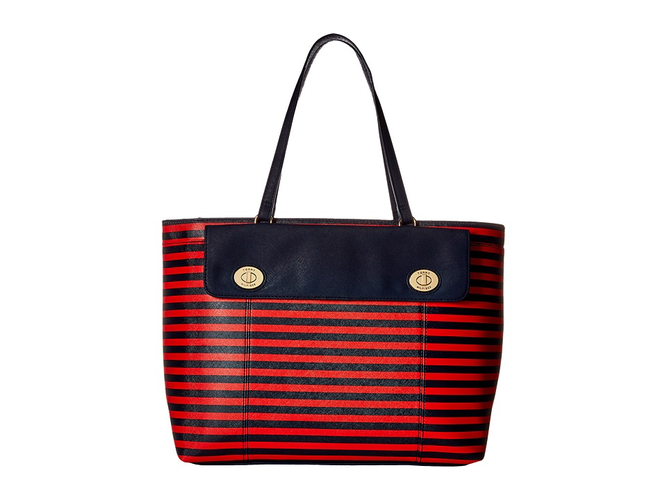Tommy Hilfiger - Polly II Tote (Navy/Fiery Red) Tote Handbags