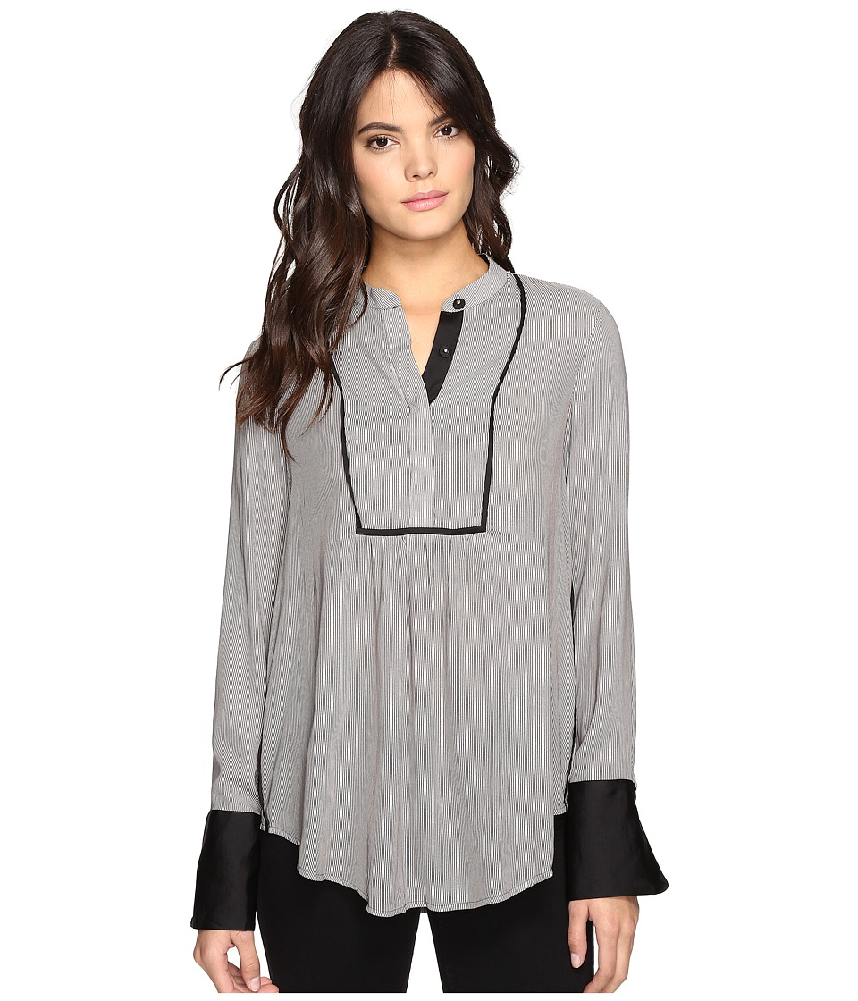 Free People - Pebble Crepe Bird Stripe Pullover (Neutral) Women's Long Sleeve Pullover