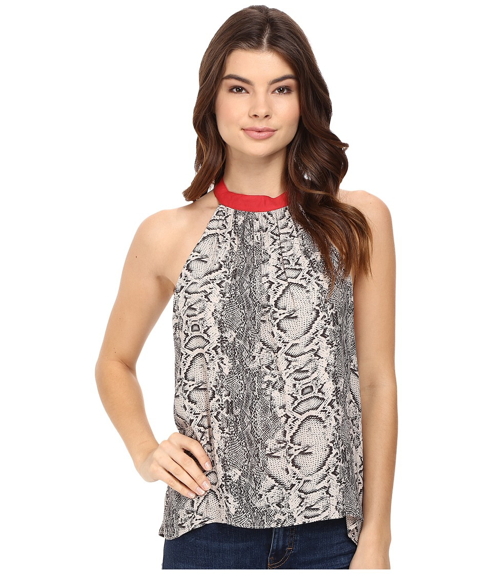 Free People - Printed Through The Night Tank Top (Black) Women's Sleeveless