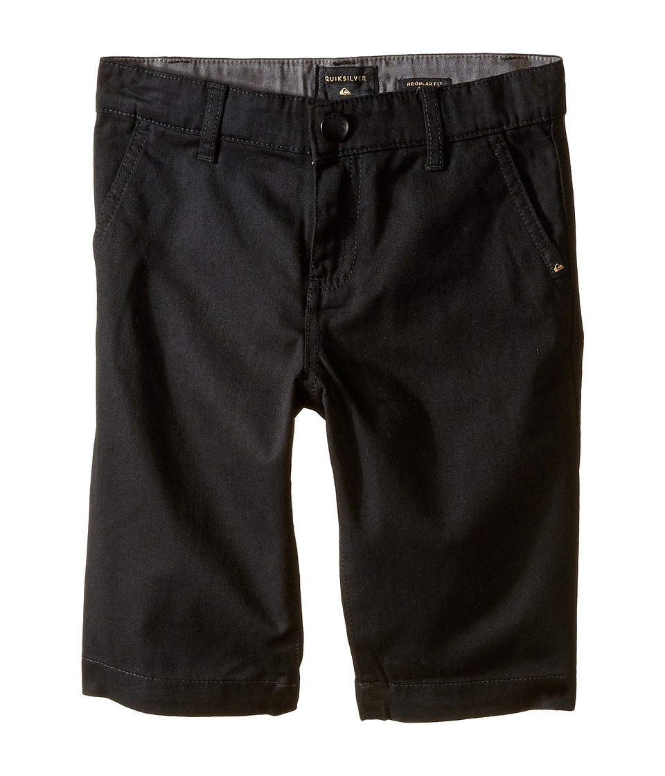 Quiksilver Kids - Everyday Union Stretch Walkshorts (Toddler/Little Kids) (Black) Boy's Shorts