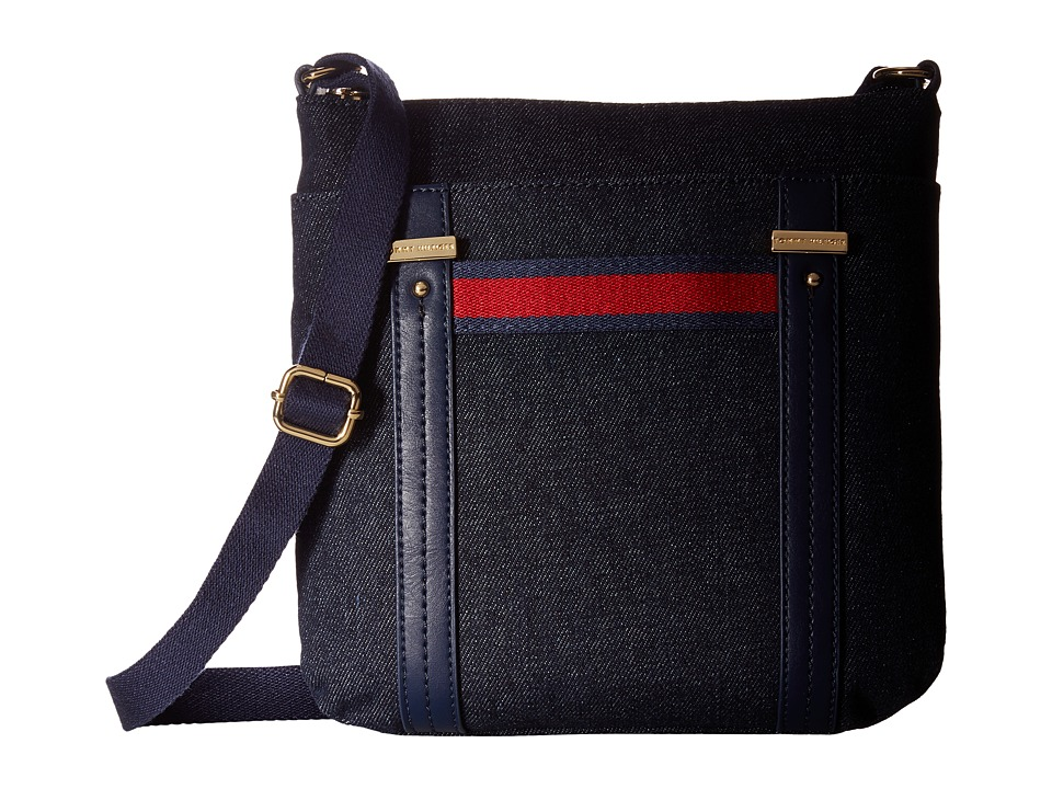 Tommy Hilfiger - Olympia II North/South Crossbody Denim (Denim) Cross Body Handbags