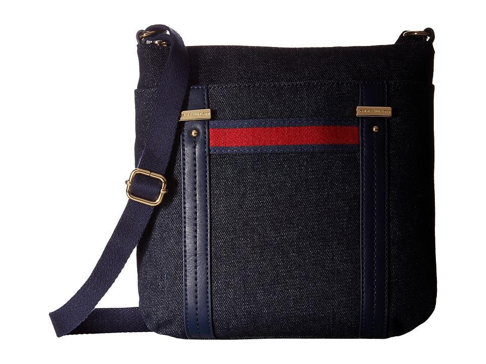 Tommy Hilfiger - Olympia II North/South Crossbody Denim (Denim) Cross Body Handbags