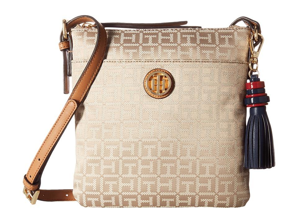 Tommy Hilfiger - Summer of Love North/South Crossbody Jacquard (Khaki Tonal) Cross Body Handbags