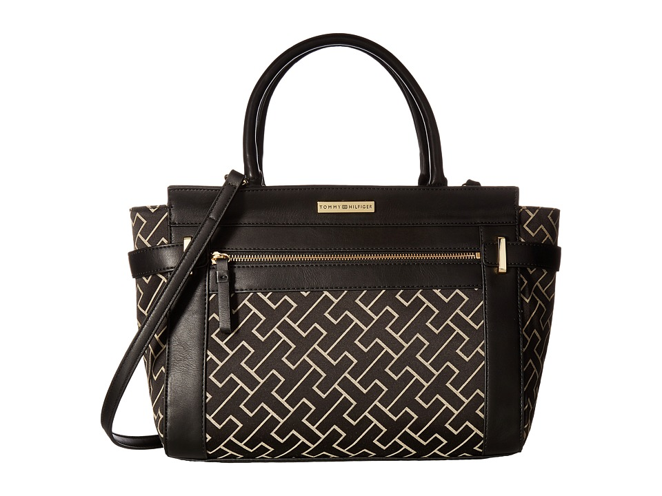Tommy Hilfiger - Claudia Convertible Shopper (Black Alpaca) Convertible Handbags