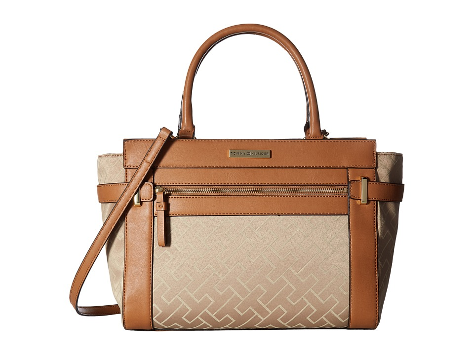 Tommy Hilfiger - Claudia Convertible Shopper (Khaki Tonal) Convertible Handbags
