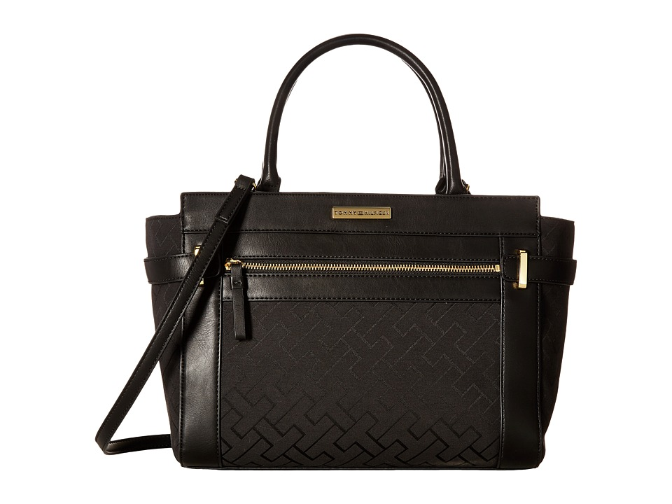 Tommy Hilfiger - Claudia Convertible Shopper (Black Tonal) Convertible Handbags