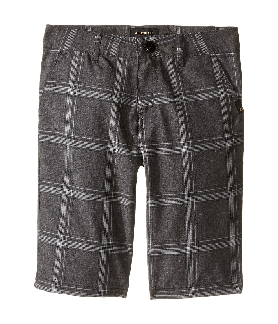 Quiksilver Kids - Regeneration Walkshorts (Toddler/Little Kids) (Dark Grey Heather) Boy's Shorts