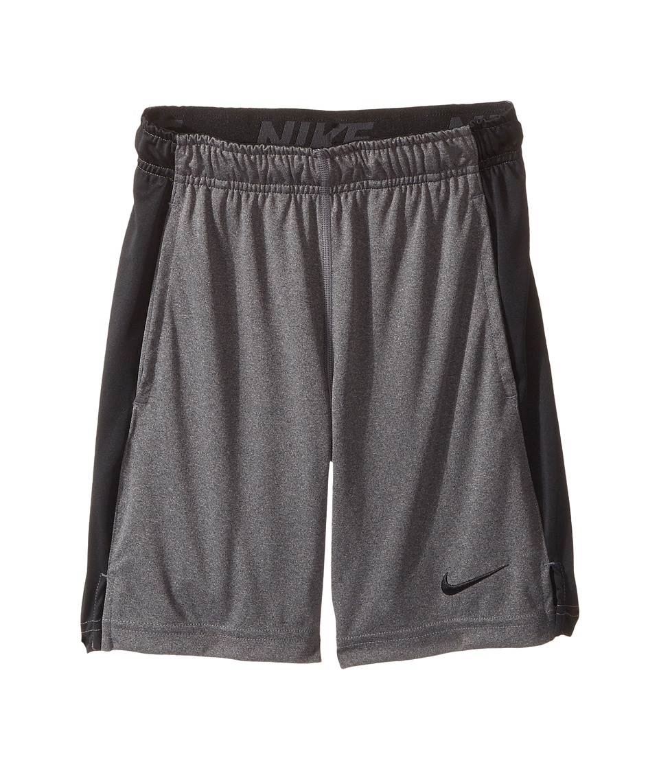 Nike Kids - Dry Fly Shorts (Little Kids/Big Kids) (Charcoal Heathr/Black/Black/Black) Boy's Shorts