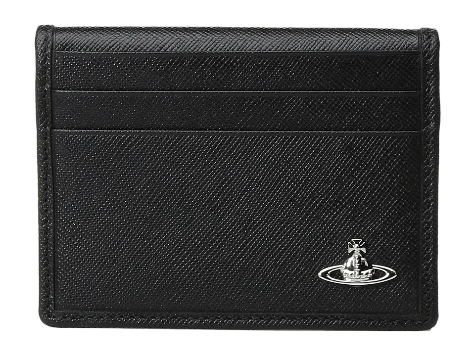 Vivienne Westwood - Small Horizontal Card Holder (Black) Credit card Wallet