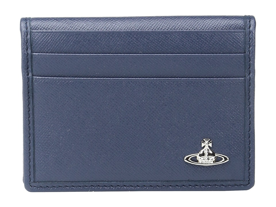 Vivienne Westwood - Small Horizontal Card Holder (Blue) Credit card Wallet