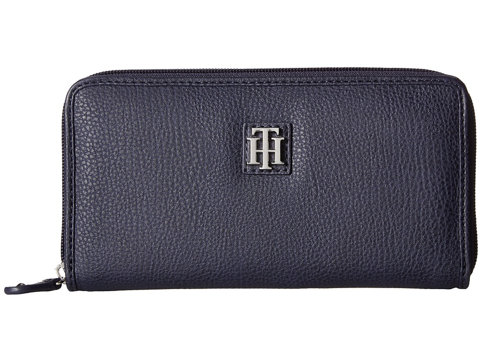 Tommy Hilfiger - Th Serif Zip Around Wallet (Tommy Navy) Wallet Handbags
