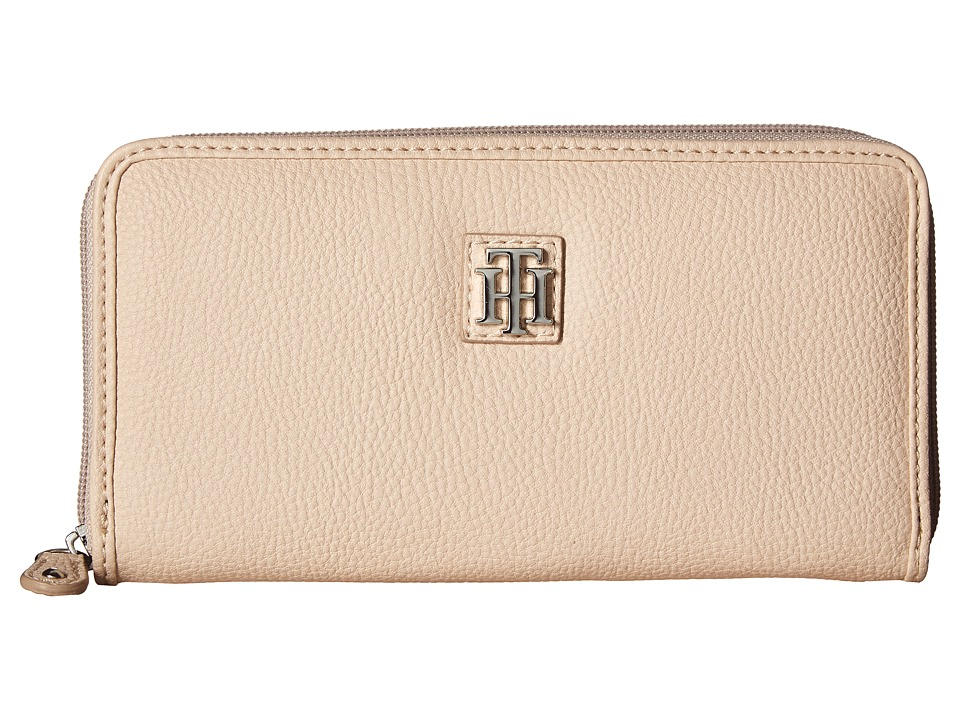 Tommy Hilfiger - Th Serif Zip Around Wallet (Blush) Wallet Handbags